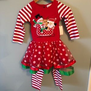 NWT Emily Rose 2pc Christmas Set Size 5 Girls